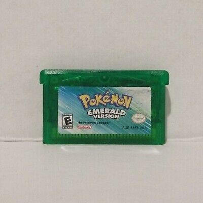 Pokemon Emerald Version Cartridge Only Game Boy Advance Needs Battery Authentic