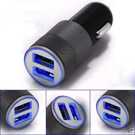 Aluminium Twin Port Universal In Car Charger