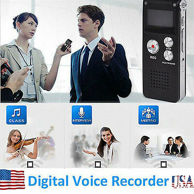 8GB Best Voice Activated Mini Clip USB Spy pen Digital Audio Voice Recorder Mp3