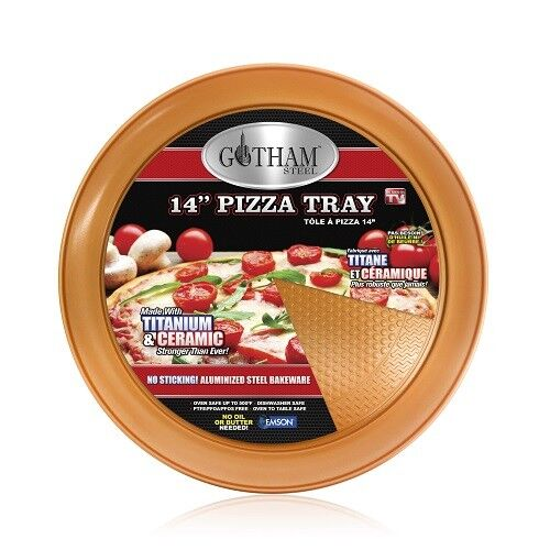 "Gotham Steel 1720 Nonstick 14"" Perfect Pizza Tray"
