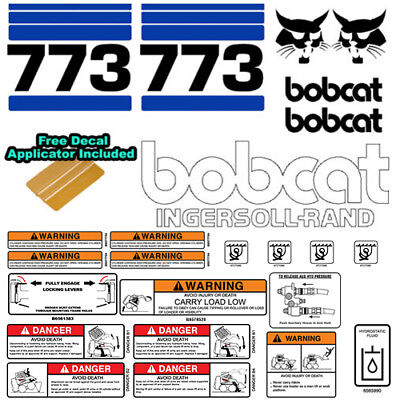 Bobcat 773 V2 Skid Steer Set Vinyl Decal Sticker Bob Cat Made In Usa - 25 Pc Set