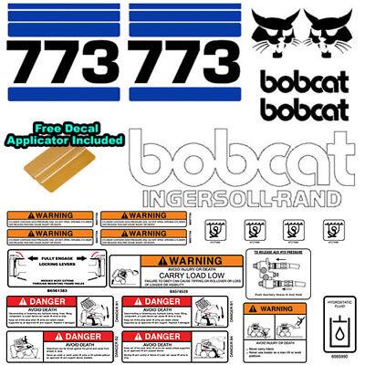 Bobcat 773 V2 Skid Steer Set Vinyl Decal Sticker Bob Cat Made In Usa - 25 Pc Set