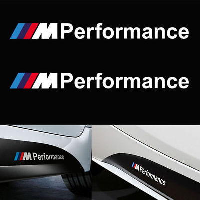 BMW M Performance Side Stickers Decals Vinyl Graphics 1 2 3 4 5 6 7 series