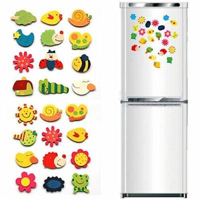 48pcs Animal Wooden Fridge Magnet/Glue Sticker Refrigerator