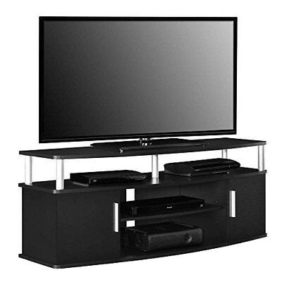 Tv Stand Entertainment Media Center Console Storage Cabinet Furniture Black New
