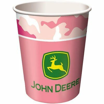 John Deere Pink Camo Cups 8 ct Paper Decorations Favor Party Supplies ](John Deere Party Decorations)