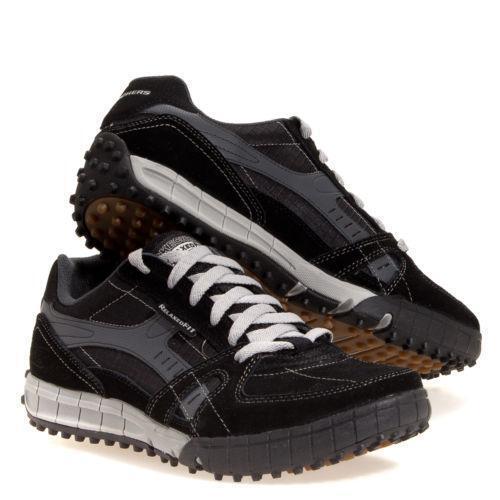 skechers mens black shoes ebay