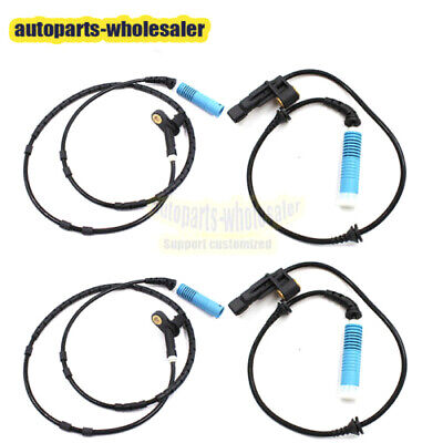 4PCS Fit For BMW E46 Z4 323i 318i Front Rear Left Right ABS Wheel Speed Sensor