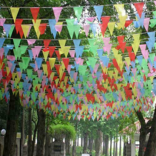 Large+33+Feet+Multi+Colour+Bunting+Flags+Party+PVC+Banner+indoor%2FOutdoor+Garden%2A