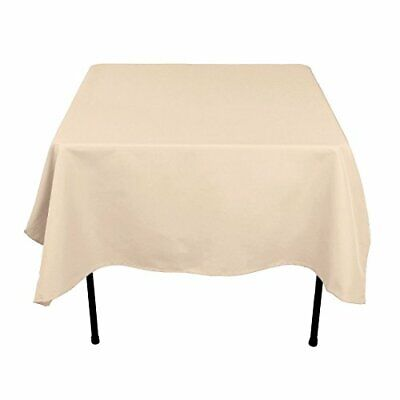 Gee Di Moda Square Tablecloth - 52 x 52 Inch - Beige Square Table Cloth for Squa - Cloth Tablecloths
