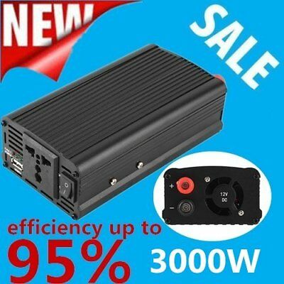 3000w4000 Watt Peak Power Inverter Dc 12v To Ac 110v For Car Truck Rv Pickup Gj