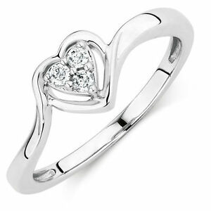 Michael Hill: PROMISE RING WITH DIAMONDS IN STERLING SILVER