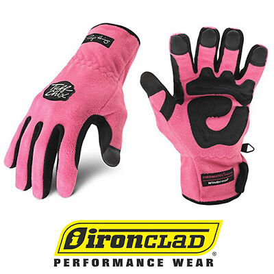 Ironclad Tuff Chix Smtc Cold Weather Womens Work Gloves Pink - Select Size