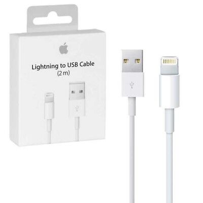 Original Apple Lightning USB Cable 2M for iPhone 5, 5S, 6, 6+ 6S, 6S+ 7 6ft