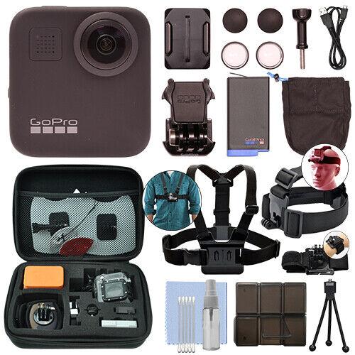 GoPro MAX 360 Action Camera Waterproof 5.6K Camcorder + Ultimate Action Bundle