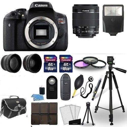 Canon EOS Rebel T6i SLR Camera + 18-55mm STM Lens +  Accessory Bundle