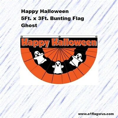 5x3ft Halloween Bunting (Ghost) Flag    - Halloween Bunting