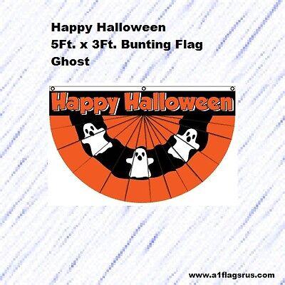 5x3ft Halloween Bunting (Ghost) Flag    - Halloween Bunting