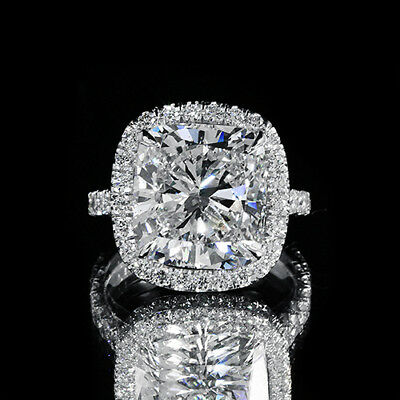 2.70ct GIA 18K White Gold Cushion Diamond Engagement Ring G/SI1 (PVT)