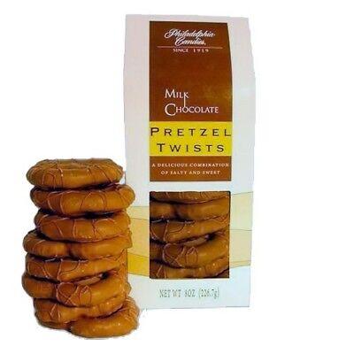 Philadelphia Candies Large Pretzel Twists, Milk Chocolate Covered 8 Ounce Gift Chocolate Covered Pretzel Twists