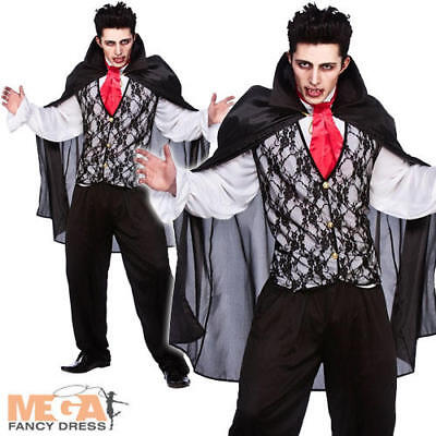 Vampire Prince of Darkness Mens Halloween Fancy Dress Adult Dracula Costume New](Prince Of Darkness Costume)