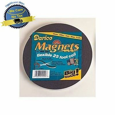 Adhesive Magnet Tape - Adhesive Backed Magnet Magnetic Tape Strip Flexible Roll 25 Ft Black Rolls NEW