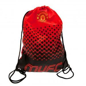 Manchester United Fc Man Utd Gym Bag Sports School Rucksack