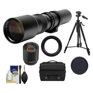 500mm 1000mm Telephoto Lens for Canon Rebel XS T1i T2i T3 T3i T4i DSLR Camera