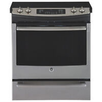 GE electric stove stainless steel convection NEW