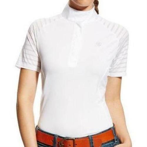 Ariat Ladies Aptos Vent Short Sleeve Show Shirt - White