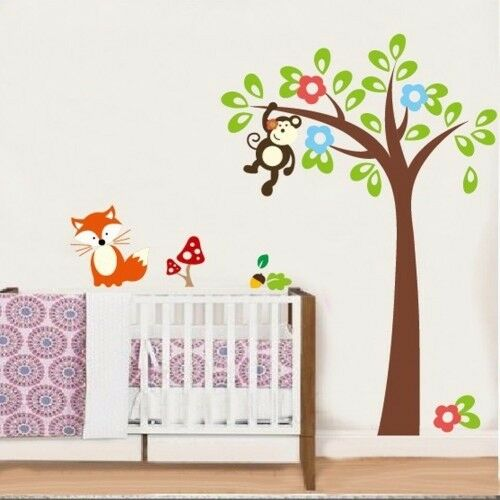 Monkey Hanging On Tree Wall Decal - Brand New - Kilmarnock Area