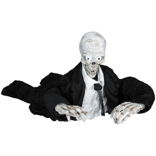 DEFECT GEMMY ANIMATED EYES LIGHT UP Mr. ZOMBODY SKELETON TALKING Prop #1
