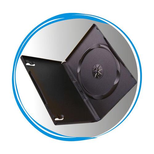 100 Standard Black 14mm Single CD DVD R Movie Box Storage Case