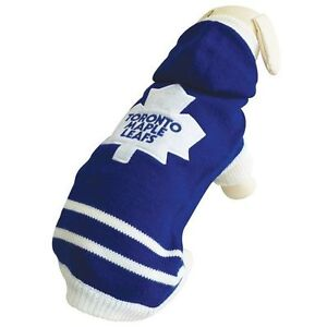 Toronto Maple Leafs Knit Dog Sweater..Only 2 Left!!!!!
