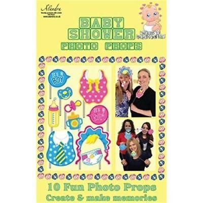 10 Fotokabine Alandra Baby Dusche Requisiten für Spaß,Exciting Erinnerungen (Erinnerung Baby-dusche)