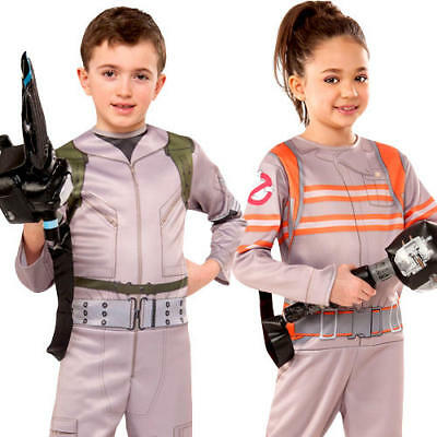 Ghostbusters Kids Fancy Dress Halloween Movie Film Childs Childrens Costumes - Kids Ghostbusters Halloween Costume