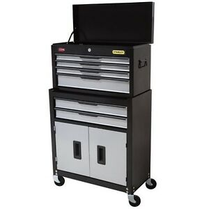 Stanley tool chest + cabinet combo