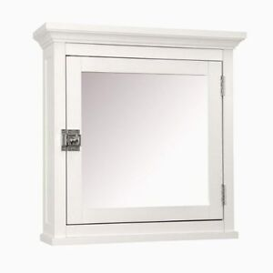 details about white bathroom wall medicine cabinet with mirror new