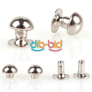 100Pcs-5mm-Mushroom-Round-Spike-Rivet-Studs-Punk-Bracelet-Bag-Leather-Craft-EDUK
