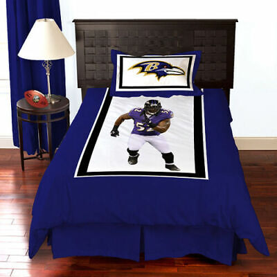 Baltimore Ravens and Ray Lewis  3 Pcs twin Bedding Comforter Set NFL