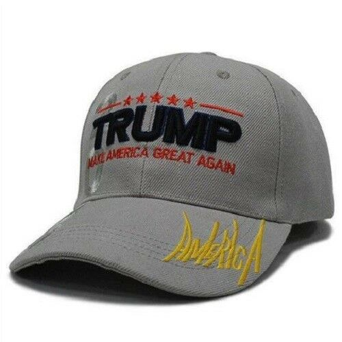 MAGA President Donald Trump 2020 Make America Great Again Hat GREY cap Collectibles