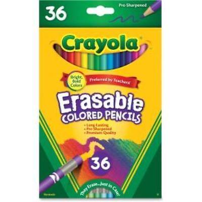 Crayola Erasable Colored Pencils - 3.3 Mm Lead Diameter - Thick Point - - Crayola Erasable Colored Pencils