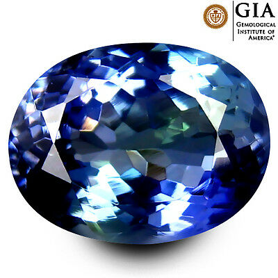 4,23 ct Tanzanite / Tansanit GIA Certified AAA Oval Cut (11x8 mm) Bluish Violet