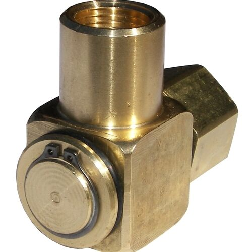 90° Hose Reel Swivel Brass 1/2 F x 1/2 F, 3000 PSI  Priority Shipping