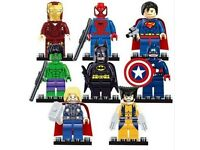 Bag of Marvel Avengers and maybe a few other type Super Hero figures