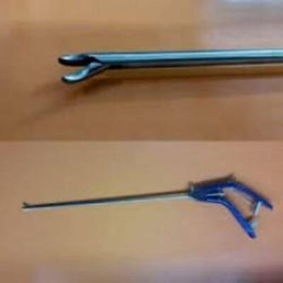 Laparoscopy Titanium 5 Mm Needle Holder Curved Brand New Addler