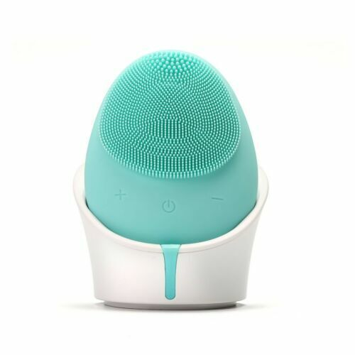 Hello Glow! MY DERMATICIAN Vibrating Sonic Care Facial Cleansing Brush BLUE
