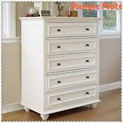 White Tallboy Chest of Drawers