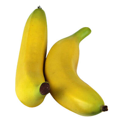 Two Large Artificial Bananas Decorative Fruit AD