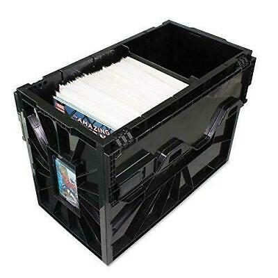 NEW (5) BCW Short Comic Book Box Storage Bin Plastic Stackable Strong Durable  - Plastic Book Boxes